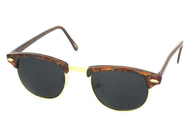 Clubmaster solbrille med meget mørkt glas. Tortoise brun og guld c79a2224f9067
