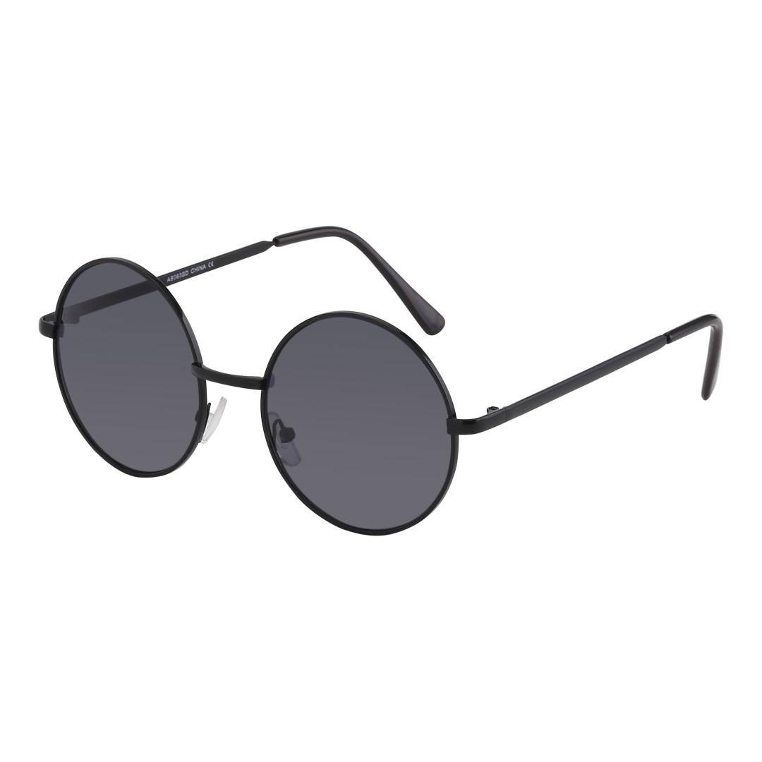 e166d255b0ee Sort rund solbrille. John Lennon model