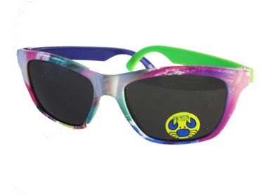 94b8987544e1 Børnesolbrille i fine farver med én blå og én grøn stang . UV beskyttelse (1 -2 år)