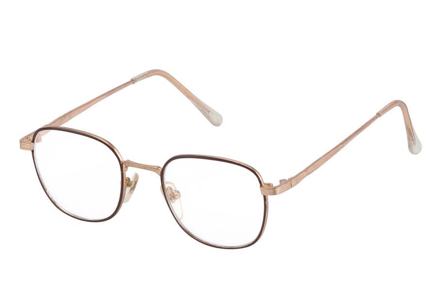96801ef91 Brille med klart glas uden styrke i mørkbrun stel