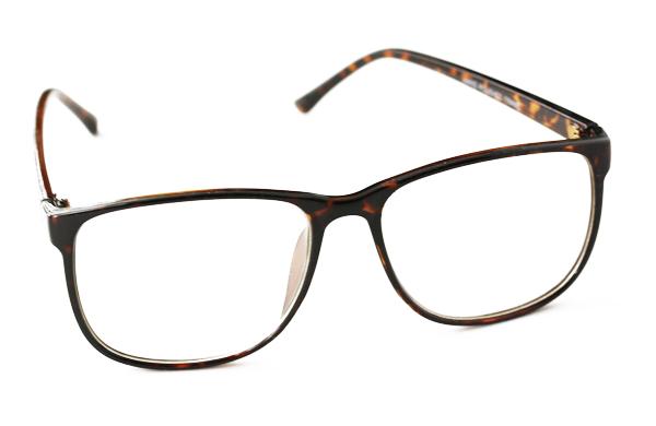 1caa8a10d565 Enkelt brille uden styrke med klart glas i brun