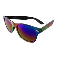 ff3d1781eae5 Fræk wayfarer solbrille i alle regnbuens farver. Sort baggrund - Design nr.  3199