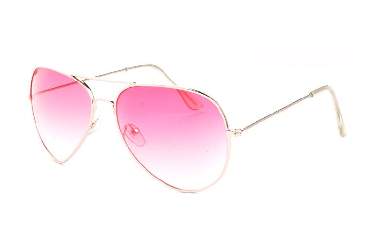 a59e176d6a91 Lyserøde aviator solbriller - Design nr. 3472