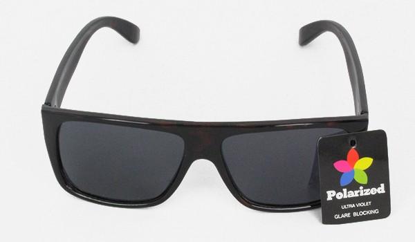8178a5ba234a Mørk brun polaroid solbrille - Design nr. 3075