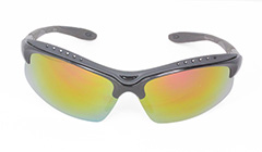 Sort sportsolbrille, perfekt til golf - Design nr. 3114