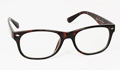 1e5eaeac2511 Lille og let mørkbrun wayfarer brille uden styrke - Design nr. 3129