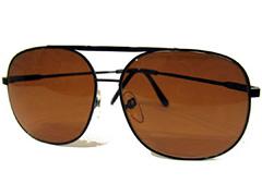 9f49f0c225a9 Maskulin solbrille i sort metalstel. Stor solbrille til mænd. - Design nr.  346