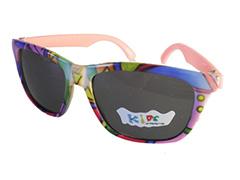 195f6f88de58 Børnesolbrille i fine farver med lyserød stænger . UV beskyttelse (1-2 år
