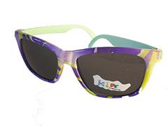 39bd77199fdd Børnesolbrille i fine farver med lys mintgrøn stænger . UV beskyttelse (1-2
