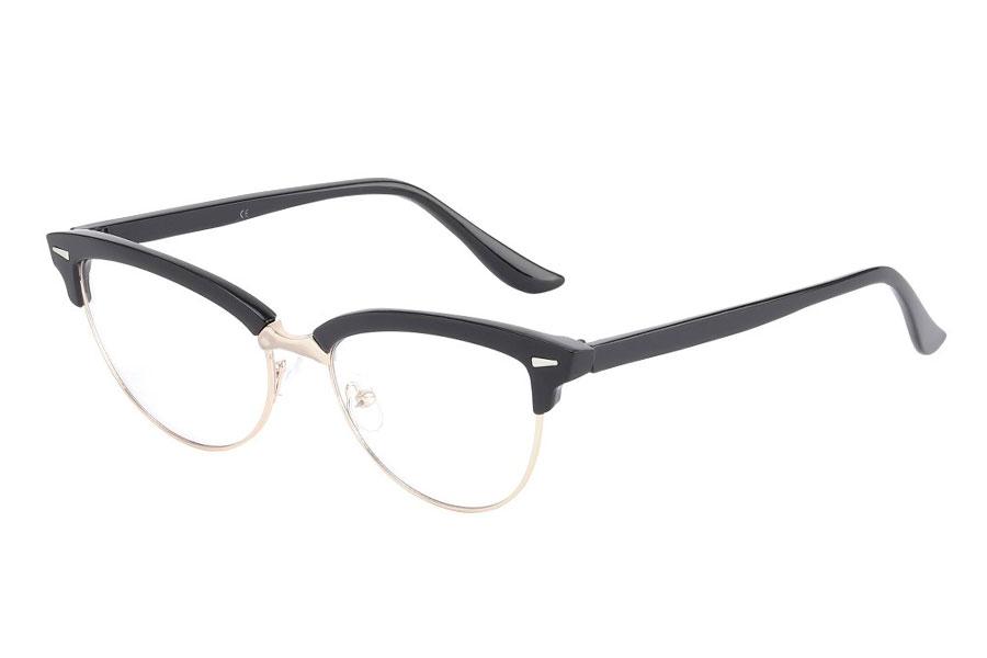 3beaad371498 Cateye brille i sort stel med klart glas uden styrke. - Design nr. s3760