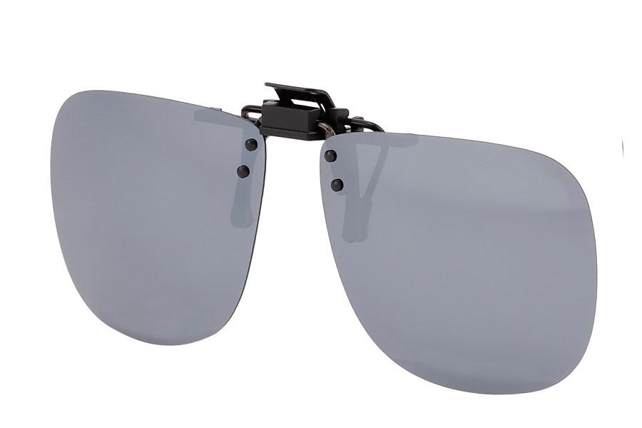 7f5332d3f1fe Polaroid clip-on solbriller med sølvfarvet spejlglas - Design nr. s3766