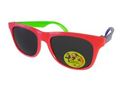 90b4475124d2 Børnesolbrille i wayfarer design. Pink med én grøn og én blå stang . UV
