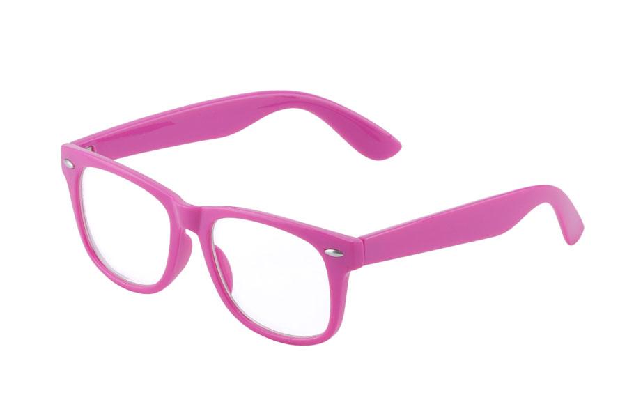 38d274428a44 BØRNE brille med klart glas i LILLA-pink. - Design nr. s3874