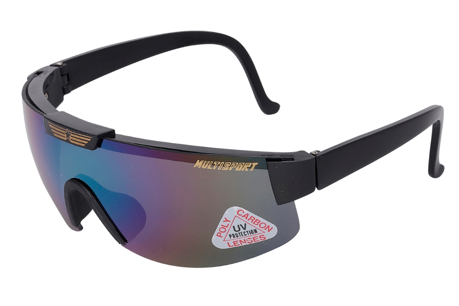 Sports solbriller og løbe Billig løbebrille i blålig farve