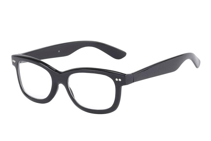 848e62509d0a Sort brille med klart glas uden styrke i wayfarer look - Design nr. 402