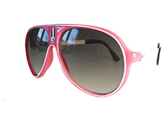 00401779707d Pink aviator   millionaire solbrille med mærket S - Design nr. 494