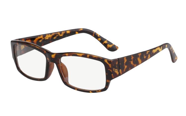 e54943f00b34 Brille med klart glas uden styrke i skildpadde brun - Design nr. 518