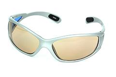 8e6da48d9e91 Sports og løbe solbrille med svagt gul-orange   røget brunt glas - Design nr