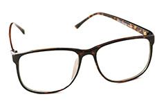 66be4ce1de16 Enkelt brille uden styrke med klart glas i brun - Design nr. 889